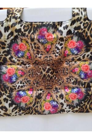 ЭКО СУМОЧКА АВОСЬКА  цвет леопард